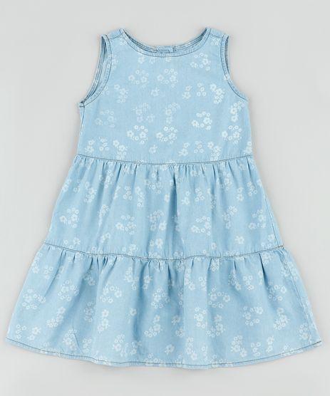 Vestido-Jeans-Infantil-Estampado-Floral-com-Recortes-Sem-Manga-Azul-Claro-9892609-Azul_Claro_1