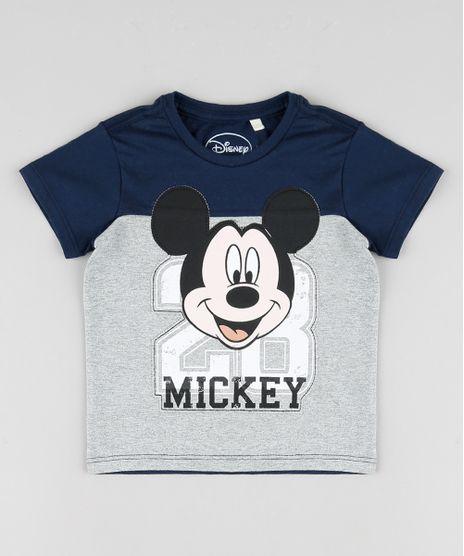 Camiseta-Infantil-Mickey-com-Recorte-Manga-Curta-Azul-Marinho-9865806-Azul_Marinho_1