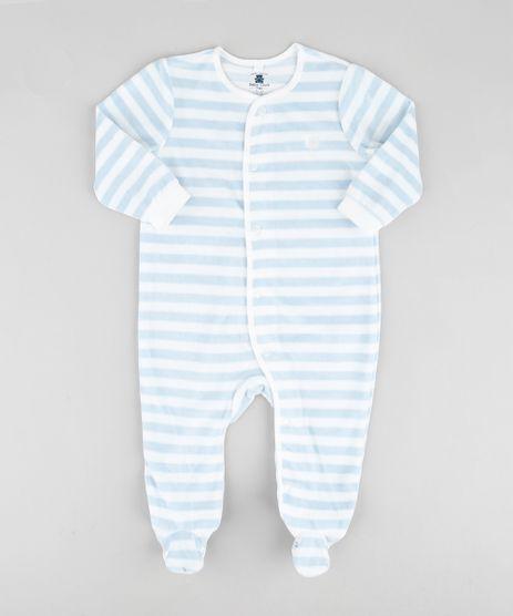 Macacao-Infantil-em-Plush-Listrado-com-Pezinhos-Manga-Longa-Azul-Claro-9688474-Azul_Claro_1