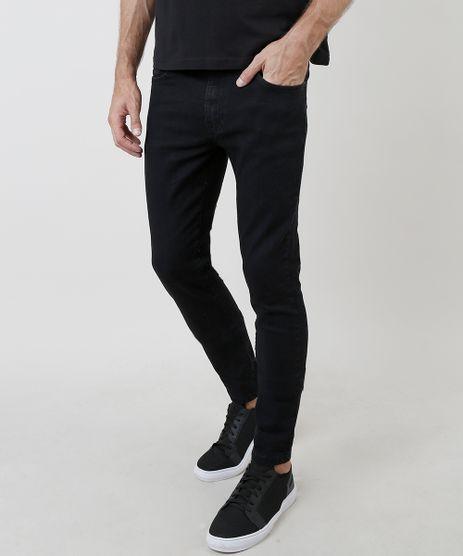 Calca-Jeans-Masculina-Skinny-com-Bolsos-Preta-9818710-Preto_1