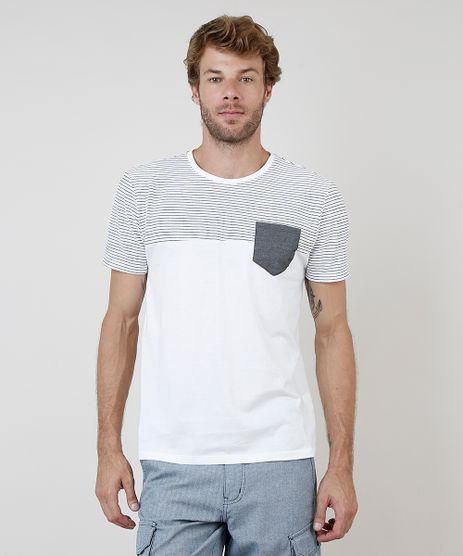 Camiseta-Masculina-com-Recorte-Listrado-e-Bolso-Manga-Curta-Gola-Careca-Off-White-9731142-Off_White_1