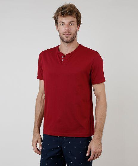 Camiseta-Masculina-Basica-Manga-Curta-Gola-Portuguesa--Vermelho-Escuro-8170415-Vermelho_Escuro_1