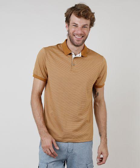 Polo-Masculina-Comfort-Fit-Listrada-Manga-Curta-Caramelo-9873354-Caramelo_1