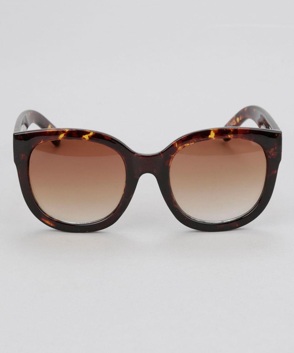 a2badc2c0f Óculos de Sol Redondo Feminino Oneself Tartaruga - ceacollections