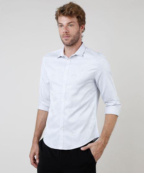 Camisa-Social-Masculina-Slim-Fit-Estampada-Floral-Manga-Longa-Cinza-9663548-Cinza_1