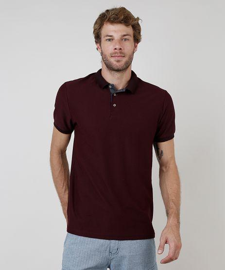 Polo-Masculina-Comfort-Fit-Texturizada-Manga-Curta-Vinho-9910313-Vinho_1