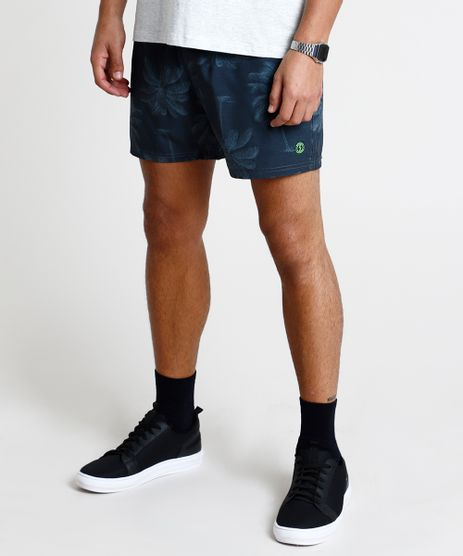 Short-Masculino-Estampado-de-Coqueiros-com-Bolso-Verde-Escuro-9863756-Verde_Escuro_1