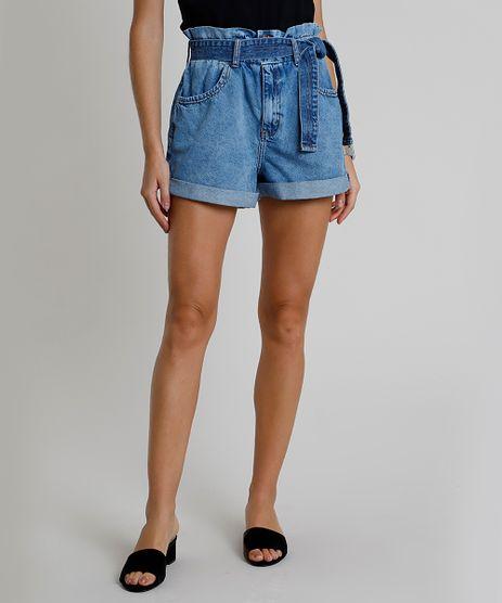 Short-Jeans-Feminino-Clochard-Cintura-Super-Alta-com-Faixa-Azul-Medio-9891734-Azul_Medio_1