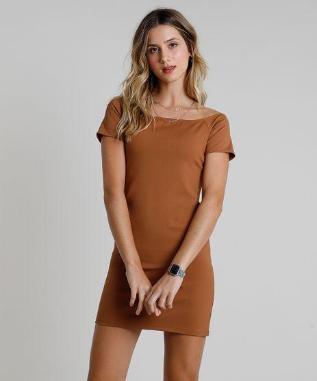 Vestido-Feminino-Curto-Ombro-a-Ombro-Manga-Curta--Caramelo-9936448-Caramelo_1