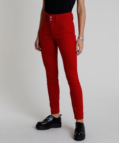 Calca-de-Sarja-Feminina-Super-Skinny-Pull-Up-Cintura-Media-Vermelho-Escuro-9864210-Vermelho_Escuro_1