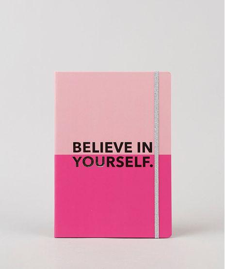 Caderno-Estampado-de--Believe-In-Yourself--Sem-Pauta-205cm-x-145cm-Rosa-9922353-Rosa_1