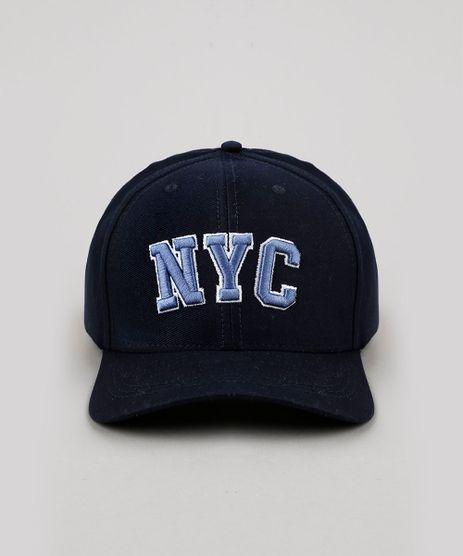 Bone-Masculino-Aba-Curva-com-Bordado--NYC--Azul-Marinho-9897826-Azul_Marinho_1