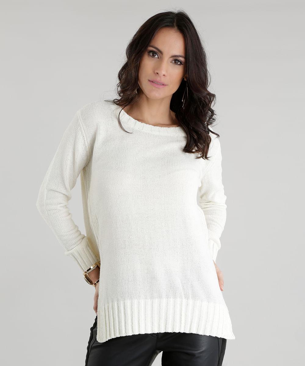 2ad61bdf6 ... Sueter-em-Trico-Off-White-8492298-Off White 1