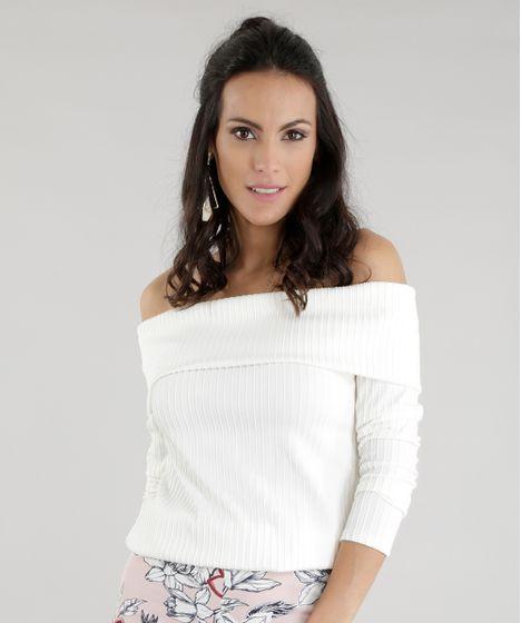 b6f3ffd95 Blusa-Ombro-a-Ombro-Canelada-Off-White-8584689- ...