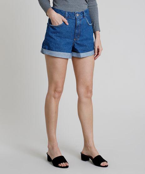 Short-Jeans-Feminino-Mom-Cintura-Super-Alta-Barra-Dobrada-Azul-Escuro-9889654-Azul_Escuro_1