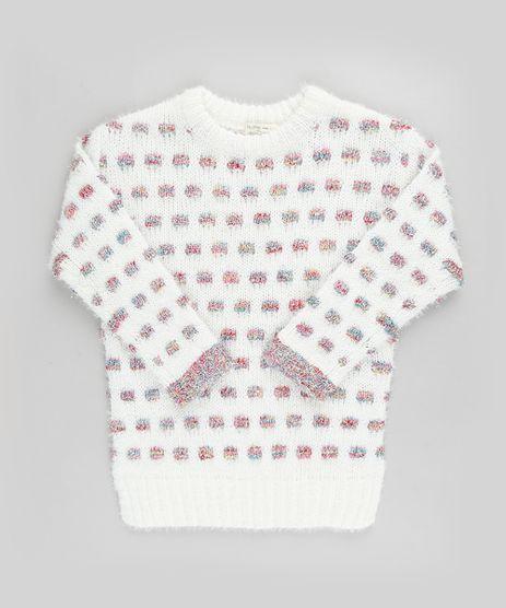 Sueter-Infantil-Estampado-Quadriculado-em-Trico-Felpado-com-Lurex-Off-White-9797542-Off_White_1