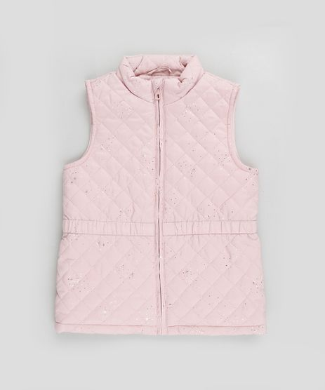 Colete-Infantil-Puffer-Matelasse-Estampado-de-Estrelas-Rosa-Claro-9782703-Rosa_Claro_1
