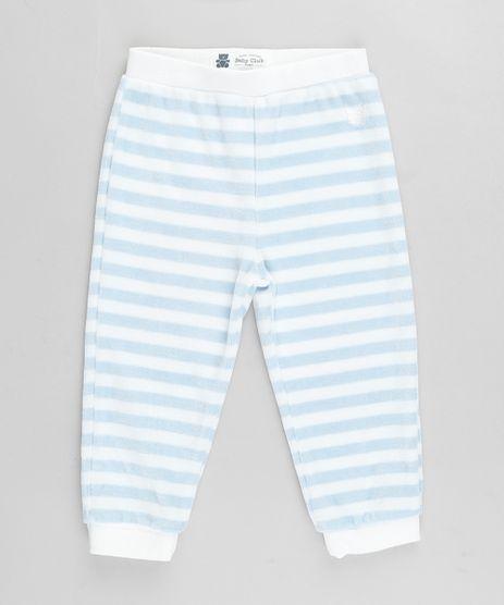 Calca-Infantil-Basica-Listrada-em-Plush-Azul-9688475-Azul_1