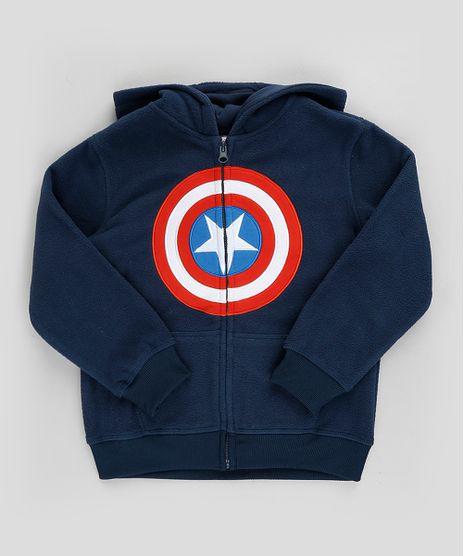 Blusao-Infantil-Capitao-America-em-Moletom-com-Capuz-e-Bolso-Azul-Marinho-9794092-Azul_Marinho_1