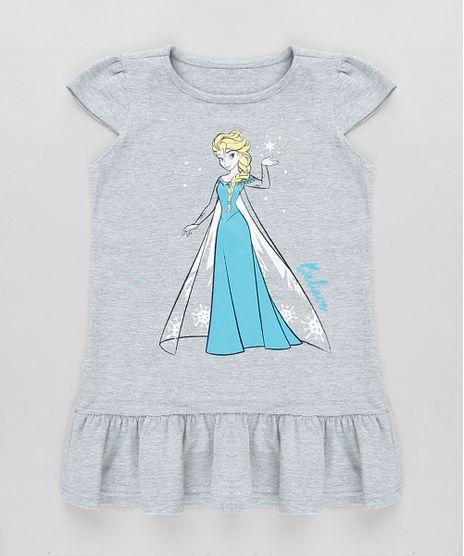 Vestido-Infantil-Elsa-Frozen-com-Babado-Manga-Curta-Cinza-Mescla-9880797-Cinza_Mescla_1