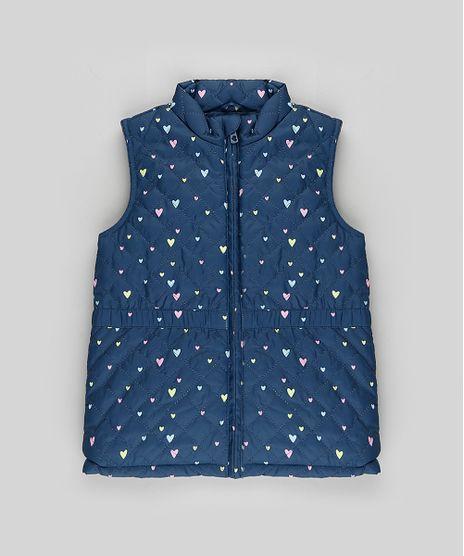 Colete-Infantil-Puffer-Matelasse-Estampado-de-Coracoes-Azul-Escuro-9782701-Azul_Escuro_1