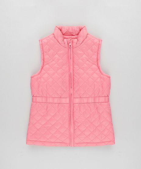 Colete-Infantil-Puffer-Matelasse-Rosa-9782712-Rosa_1