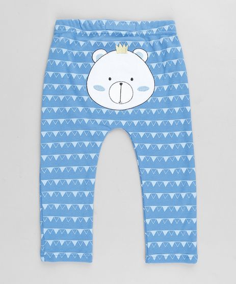 Calca-Infantil-Urso-Estampado-Geometrico-Azul-9677749-Azul_1