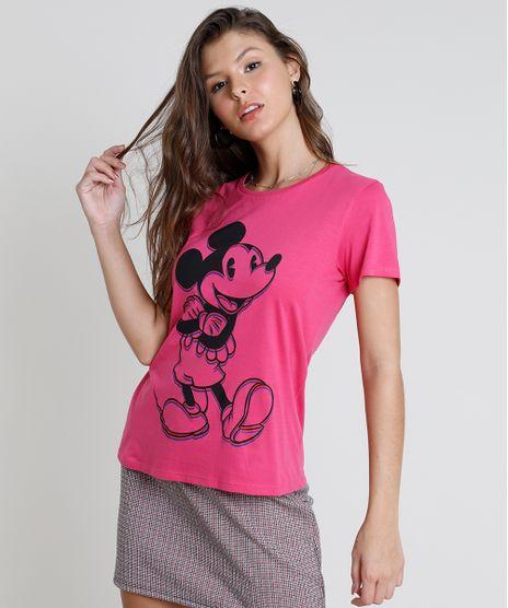 Blusa-Feminina-Mickey-Manga-Curta-Decote-Redondo-Pink-9857362-Pink_1