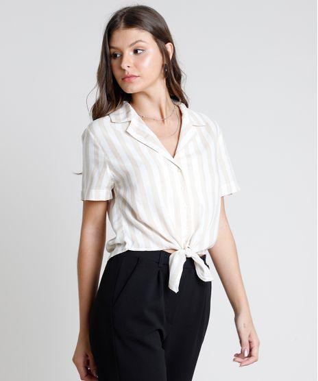 Camisa-Feminina-Cropped-Listrada-com-Linho-e-No-Manga-Curta-Bege-9885495-Bege_1