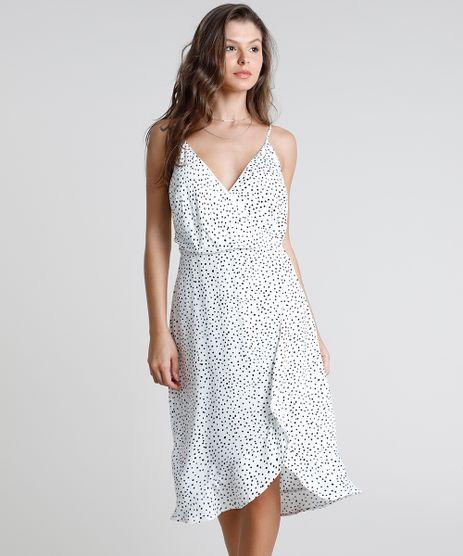 Vestido-Feminino-Midi-Transpassado-Estampado-de-Poa-com-Babado-Alca-Fina-Branco-9897761-Branco_1