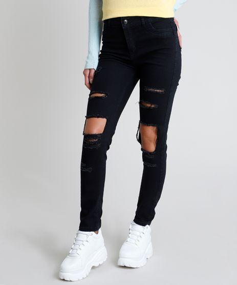 Calca-Jeans-Feminina-Sawary-Super-Skinny-Heart-Cintura-Media-Destroyed-Preta-9911014-Preto_1