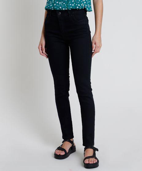 Calca-Jeans-Feminina-Sawary-Skinny-Cintura-Alta-Preta-9914193-Preto_1
