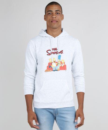 Blusao-Masculino-Os-Simpsons-em-Moletom-com-Capuz-e-Bolso-Canguru-Cinza-Mescla-Claro-9799768-Cinza_Mescla_Claro_1