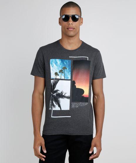 Camiseta-Masculina-Paisagem-Tropical-Manga-Curta-Gola-Careca-Cinza-Mescla-Escuro-9858411-Cinza_Mescla_Escuro_1