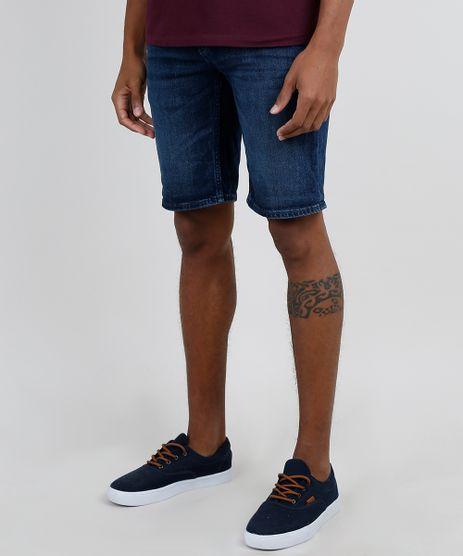 Bermuda-Jeans-Masculina-C2C-Relaxed-com-Cordao-Azul-Escuro-9784428-Azul_Escuro_1