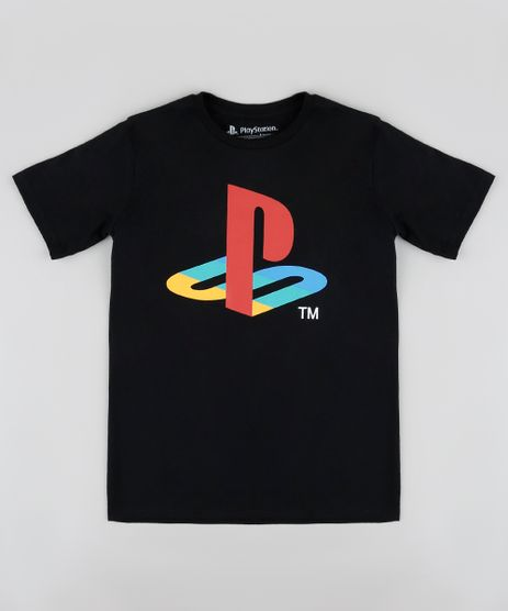 Camiseta-Infantil-PlayStation-Manga-Curta-Preta-9873465-Preto_1