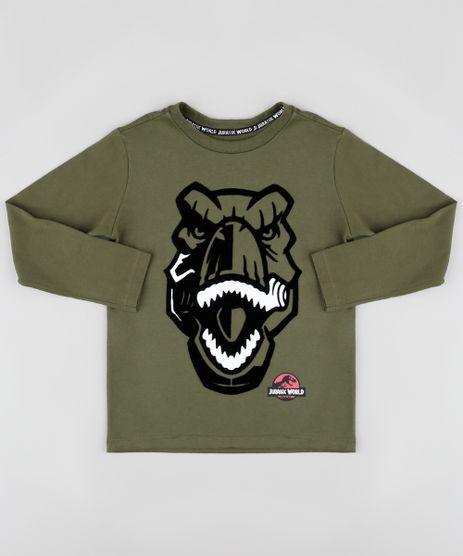 Camiseta-Infantil-Jurassic-World-Manga-Longa-Verde-Militar-9879369-Verde_Militar_1