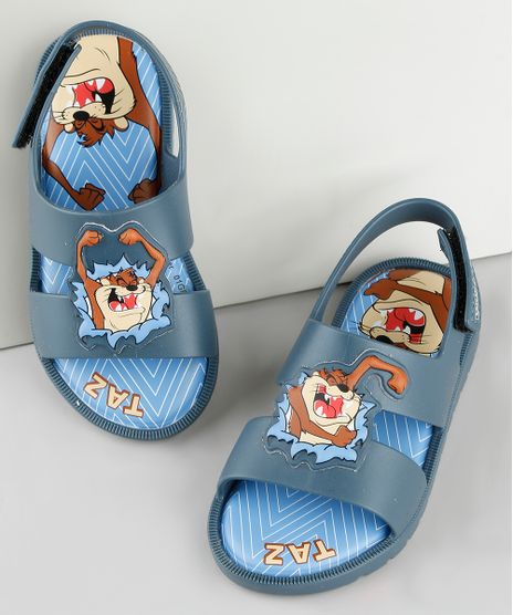 Sandalia-Infantil-Taz-Looney-Tunes-com-Velcro-Azul-Marinho-9912249-Azul_Marinho_1