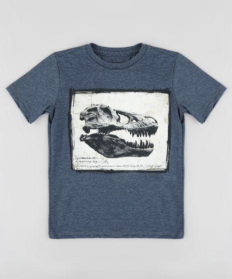 Camiseta-Infantil-Fossil-de-Dinossauro-Manga-Curta-Azul-Marinho-9885102-Azul_Marinho_1