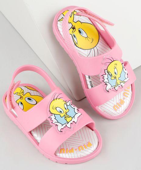 Sandalia-Infantil-Piu-Piu-Looney-Tunes-com-Velcro-Rosa-9912248-Rosa_1