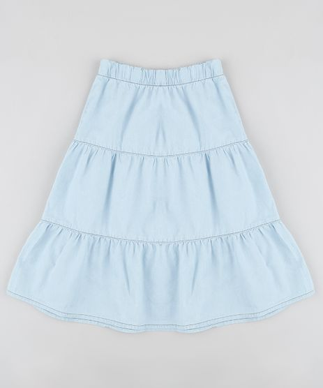 Saia-Jeans-Infantil-Midi-com-Recortes-Azul-Claro-9892619-Azul_Claro_1