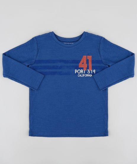 Camiseta-Infantil-com-Listras-e-Bordado-Manga-Longa-Azul-Marinho-9885117-Azul_Marinho_1