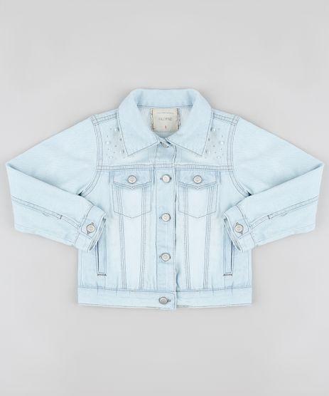 Jaqueta-Jeans-Infantil-com-Strass-e-Perolas-Azul-Claro-9892638-Azul_Claro_1