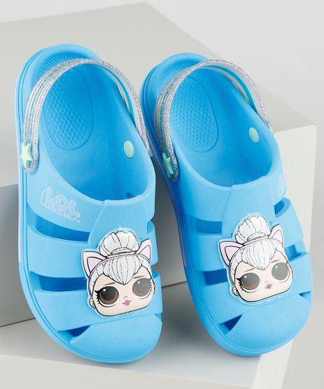 Babuche-Infantil-LOL-Surprise-com-Brilho-Azul-9914159-Azul_1
