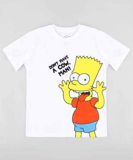 Camiseta-Infantil-Bart-Simpson-Manga-Curta-Off-White-9908239-Off_White_1