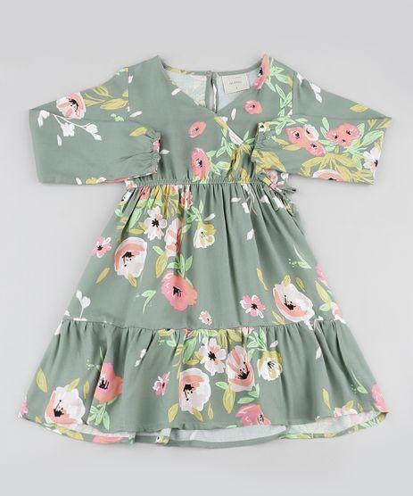 Vestido-Infantil-Estampado-Floral-Transpassado-com-Recortes-Manga-Longa-Verde-9906180-Verde_1