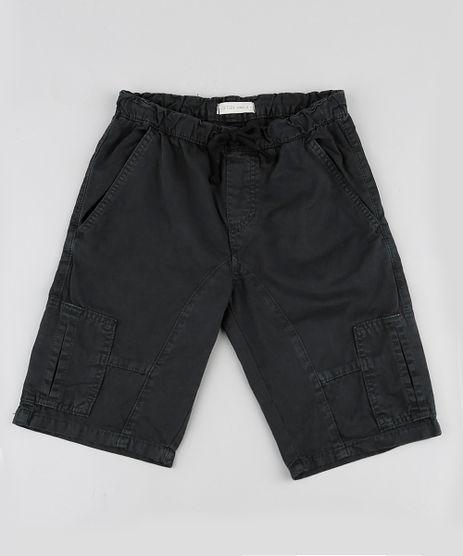 Bermuda-de-Sarja-Infantil-Cargo-com-Cordao-Chumbo-9884054-Chumbo_1
