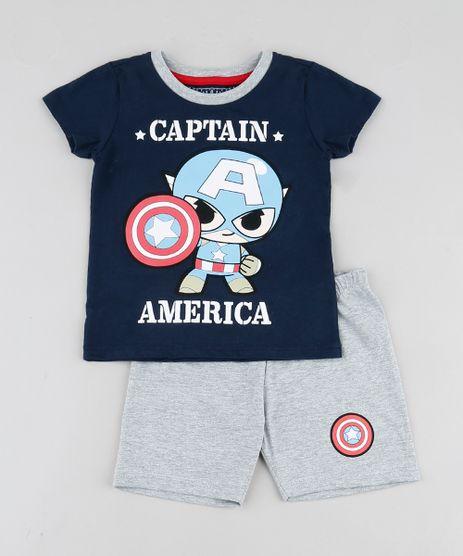 Pijama-Infantil-Capitao-America-Manga-Curta-Azul-Marinho-9878563-Azul_Marinho_1