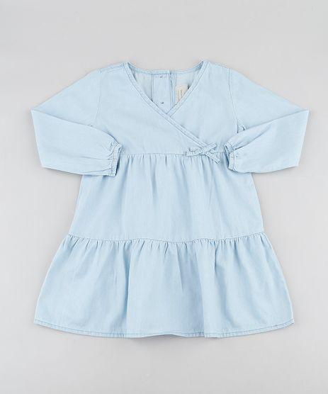 Vestido-Jeans-Infantil-Transpassado-com-Recortes-Manga-Longa-Azul-Claro-9892643-Azul_Claro_1