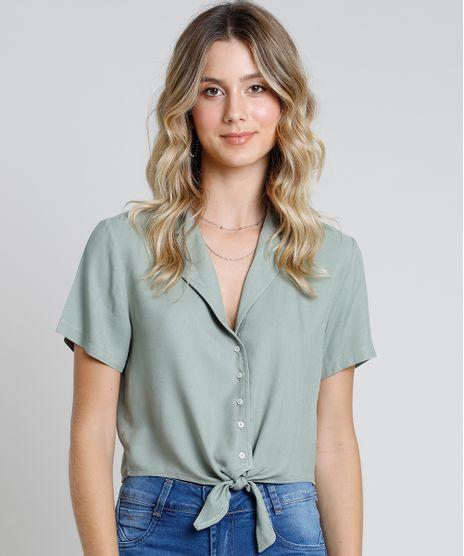 Camisa-Feminina-Cropped-com-No-Manga-Curta--Verde-9885496-Verde_1